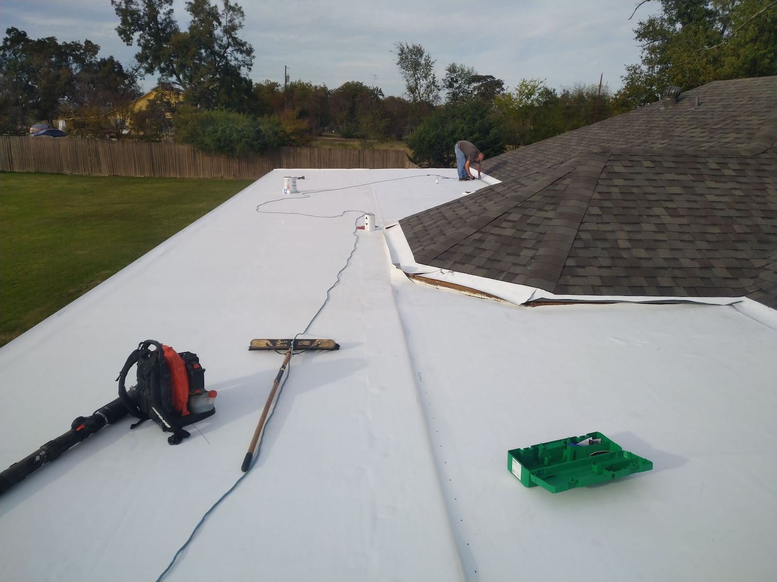 Shingle roof in Sulphur Springs Texas before replacement