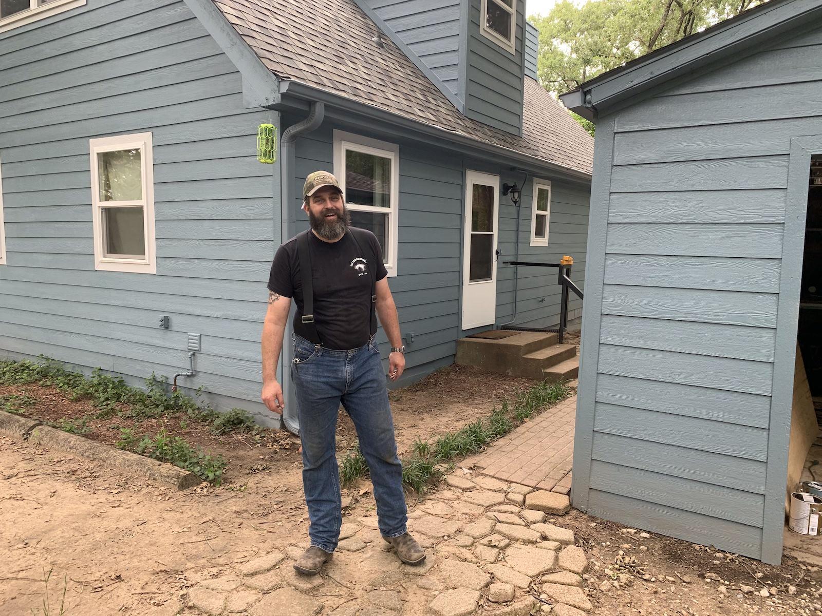 Choice One Restorations team member on Sulphur Springs job